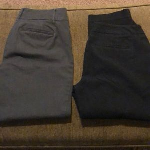 2 Pairs of Ann Taylor Crop Pants. Size 6